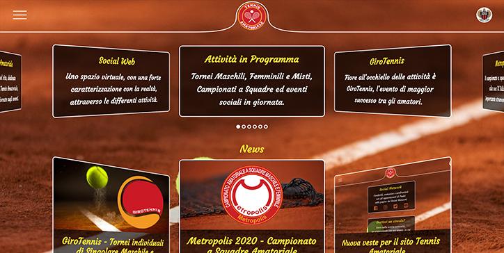 Nuova veste per il sito Tennis Amatoriale